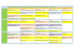 Uzaktan Eğitim Yüksek Lisans Programları 2013-2014