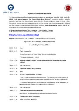 dış ticaret bilgilendirme semineri