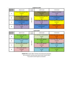 Ders Programı - Ereğli Eğitim Fakültesi