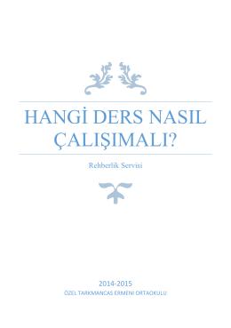 """""""HANGİ DERS NASIL ÇALIŞILMALI"""" Ortaokul Ekim Ayı Rehberlik"""