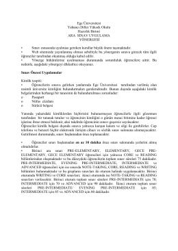 Ege Üniversitesi - Yabancı Diller Bölümü