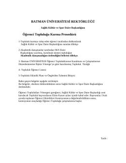Öğrenci Topluluğu Kurma Prosedürü 148,83 KB PDF