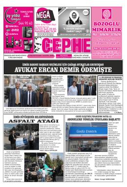 23.10.2014 Tarihli Cephe Gazetesi