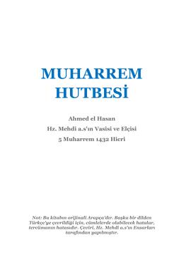 MUHARREM HUTBESİ