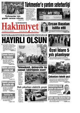 28 Haziran 2014 Cumartesi - Çorum Hakimiyet Gazetesi
