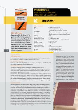 Ürün Tanımı STROCHEM 185 EPOKSİ ESASLI 3