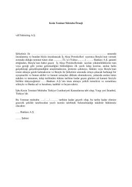 vdf Faktoring Mal Alımına İstinaden Verilecek Teminat Mektubu