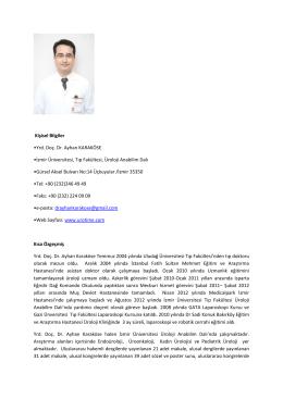 CV - İzmir Üniversitesi