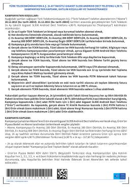 türk telekomünikasyon a.ş. 24 ay taksitli gıgaset sl930 androıd dect