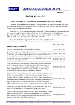 sırk 2015-17 2015 yılında ttk kapsamında