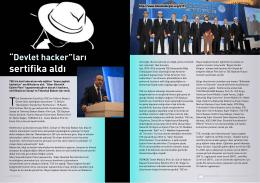"""""""Devlet hacker""""ları sertifika aldı"""