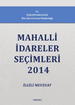 2014 Mahalli İdareler Seçim Kitabı