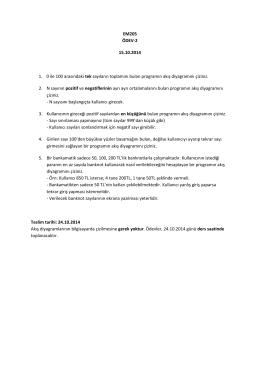 EM205 ÖDEV-2 15.10.2014 1. 0 ile 100 arasındaki tek sayıların