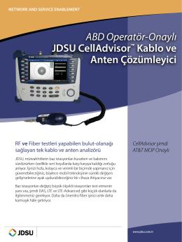 ABD Operatör-Onaylı JDSU CellAdvisor™ Kablo ve Anten