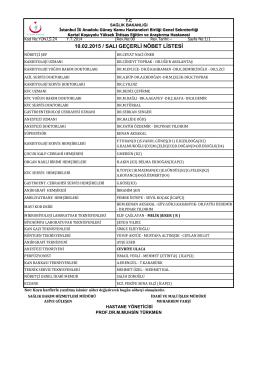 10 - Kartal Koşuyolu Yüksek İhtisas Eğitim ve Araştırma Hastanesi