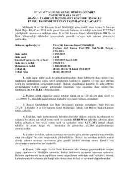 Adana Arsa İlanına Ulaşmak İçin Tıklayınız.