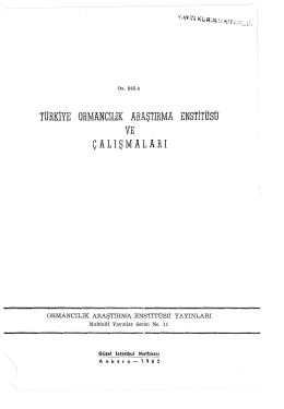 011 - Doğu Karadeniz Ormancılık Araştırma Enstitüsü Müdürlüğü