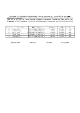 2015 sözleşmeli bilgisayar teknisyenliği mülakat listesi
