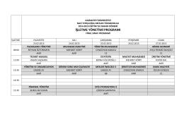 İşletme Yönetimi - Naci Topçuoğlu Meslek Yüksekokulu