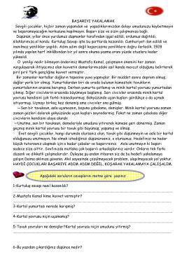 türkçe sınav - Kartanelerim.com