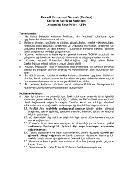 KouNet - Bilgi İşlem Daire Başkanlığı