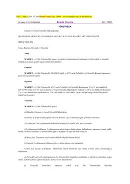 7. 25.04.13 İş Ekipmanlarının Kullanımında Sağlık ve Güvenlk