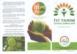 tan İYİ TARIM - Aydın İl Gıda Tarım ve Hayvancılık Müdürlüğü