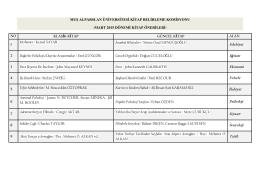 Mart Ayı Kitap Önerisi - Muş Alparslan Üniversitesi