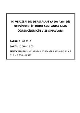 iki veya üzeri dil dersi alanlar ya da aynı dil dersinden iki kur alanlar