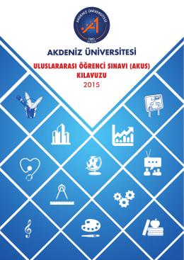 Untitled - Akdeniz Üniversitesi