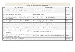 Nisan Ayı Kitap Önerisi - Muş Alparslan Üniversitesi