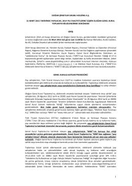 Genel Kurula Katılım Prosedürü