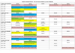2014-2015 Bahar Dönemi Arasınav Takvimi