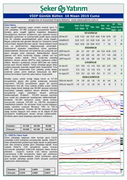 10/04/2015 - Şeker Yatırım
