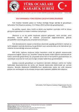 2014 STDÇ - Türk Ocakları Karabük Şubesi