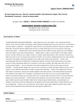 Gaz Altı Kaynakçısı ilanı