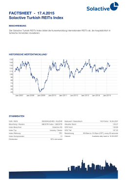 FACTSHEET - Solactive Turkish REITs Index 17.4.2015