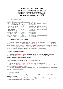karatay belediyesi 15. resmi kurumlar arası bahar futbol turnuvası