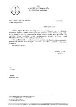Yazı İçin tıklayınız. - Alaşehir İlçe Milli Eğitim Müdürlüğü