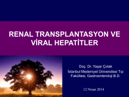 renal transplantasyon ve viral hepatitler