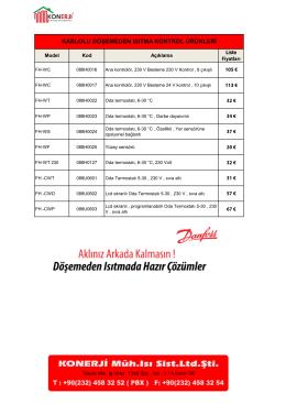 Fiyatları indirmek için tıklayınız ( PDF - 440 kb )
