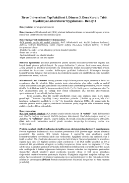 Zirve Üniversitesi Tıp Fakültesi I. Dönem 3. Ders Kurulu Tıbbi