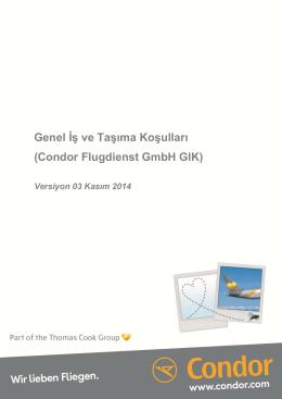 Genel İş ve Taşıma Koşulları (Condor Flugdienst GmbH GIK)