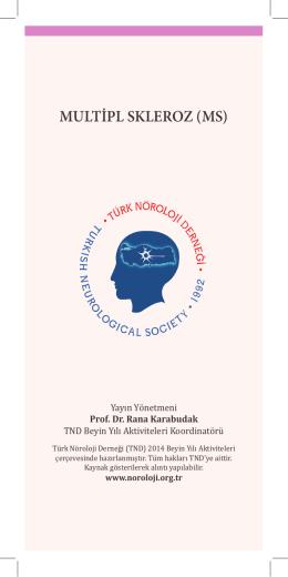 MULTİPL SKLEROZ (MS) - Türk Nöroloji Derneği
