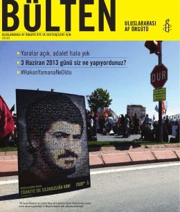Uluslararası Af Örgütü Bülteni