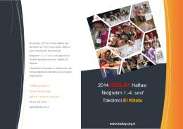Kızılay Tanıtım Kitapçığı İlkokul