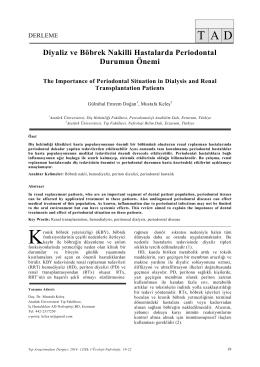 Diyaliz ve Böbrek Nakilli Hastalarda Periodontal