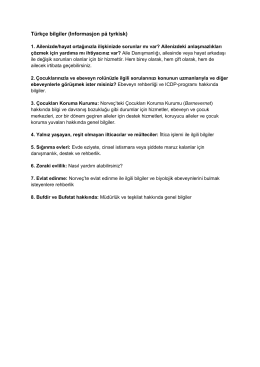 Türkçe bilgiler (Informasjon pċ tyrkisk)