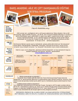 bakış akademi: aile ve çift danışmanlığı eğitimi sertifika programı