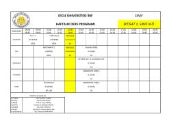 İktisat Bölümü Ders Programı